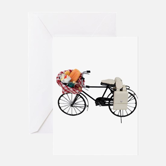 Bicycle picnic Greeting Card
