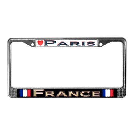 Paris, FRANCE - License Plate Frame