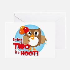 Owl 2nd Birthday Greeting Card