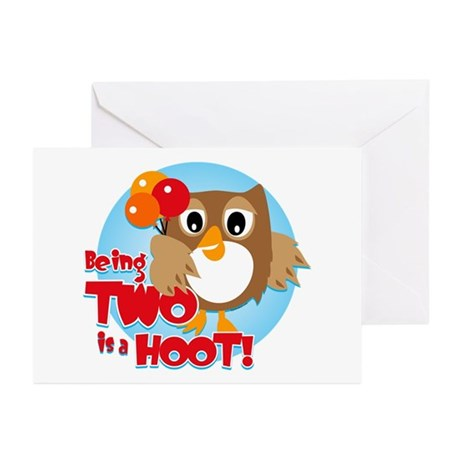 Owl 2nd Birthday Greeting Cards (Pk of 10)