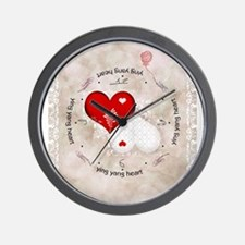 Vintage lace heart Wall Clock