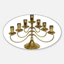 Candelabra Oval Decal