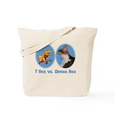 T Rex vs Devon Rex Tote Bag