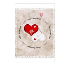 Vintage lace heart Postcards (Package of 8)