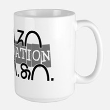 Osage Nation w/ Osage Writing Large Mug