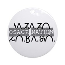 Osage Nation w/ Osage Writing Ornament (Round)
