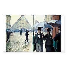 Paris Street, Rainy Day Rectangle Decal