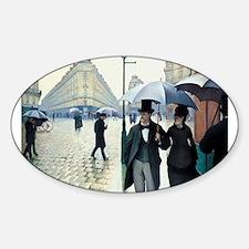 Paris Street, Rainy Day Oval Decal