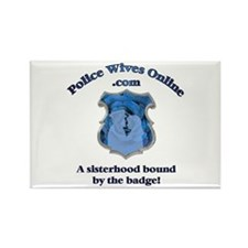 Police Wives Online Sheild Lo Rectangle Magnet