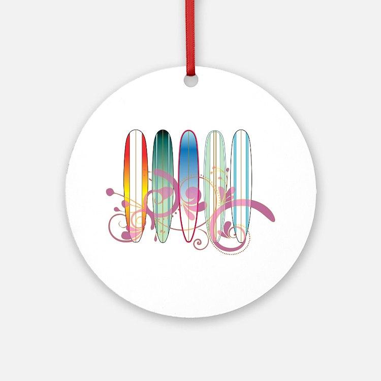 Board Swirl Ornament (Round)