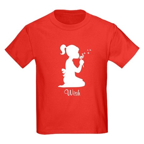Girl Blowing Dandelion Kids Dark T-Shirt