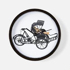 Energy efficient rickshaw Wall Clock