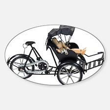 Energy efficient rickshaw Oval Sticker (50 pk)