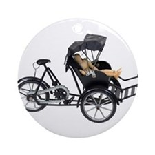 Energy efficient rickshaw Ornament (Round)