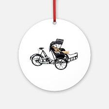Energy efficient rickshaw Ornament (Round)