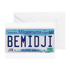 Bemidji License Plate Greeting Card