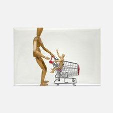 Family out shopping Rectangle Magnet