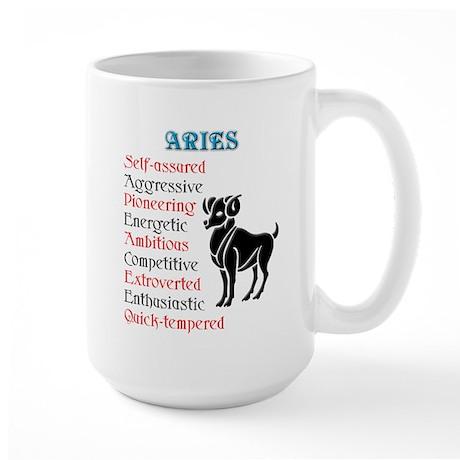 Aries Horoscope Large Mug