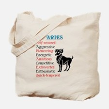 Aries Horoscope Tote Bag