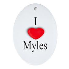 Myles Oval Ornament