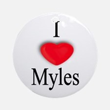 Myles Ornament (Round)