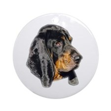 Coonhound Round Ornament