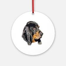 Coonhound Round Ornament