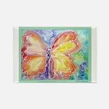 Butterfly, Pretty, Bright, Rectangle Magnet