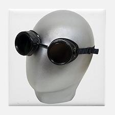 Goggles on a blank face Tile Coaster