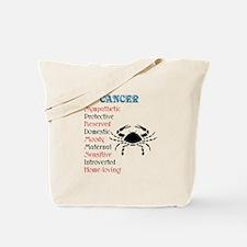 Cancer Horoscope Tote Bag
