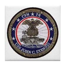 USS John Stennis CVN 74 Tile Coaster