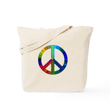 CAT LOVE/PEACE SIGN Tote Bag