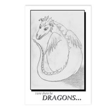 Here There Be Dragons Postcards (Package of 8)