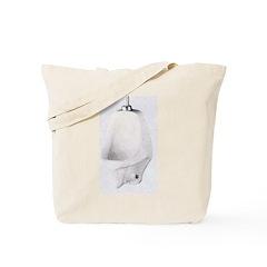 Urinal oval plain Tote Bag