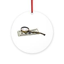 Green savings Ornament (Round)
