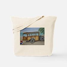 OLDTIME WOODIE BEACH WAGON Tote Bag