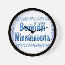Bemidji Minnesnowta Wall Clock