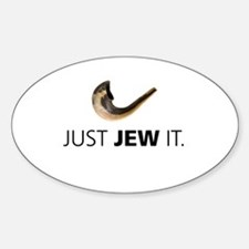 Just Jew It Oval Decal