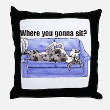 NMtlMrl Where RU Throw Pillow