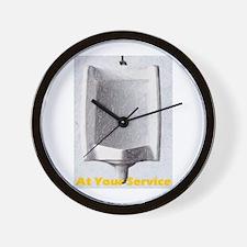 At Your Service urninal Wall Clock