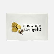 Show me the money..Gelt! Rectangle Magnet