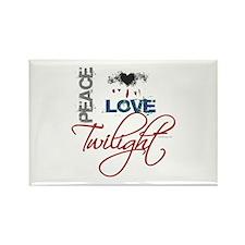 Peace Love Twilight Grunge Rectangle Magnet