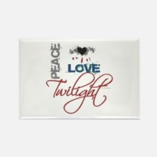 Peace Love Twilight Grunge Rectangle Magnet