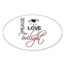 Peace Love Twilight Grunge Bumper Decal