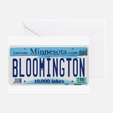 Bloomington License Plate Greeting Card