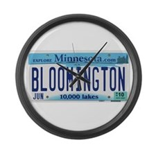 Bloomington License Plate Large Wall Clock