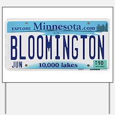 Bloomington License Plate Yard Sign