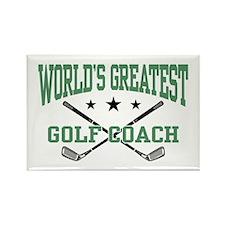 World's Greatest Golf Coach Rectangle Magnet