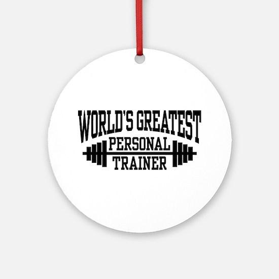 Personal Trainer Ornament (Round)