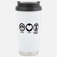 Peace Love Personal Training Stainless Steel Trave